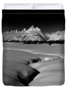 1m9303 Bwtetons Seen From Jackson Hole Duvet Cover