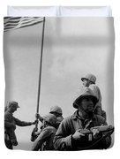 1st Flag Raising On Iwo Jima  Duvet Cover