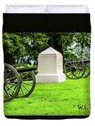 1st Mass Battery Gettysburg National Cemetery Duvet Cover