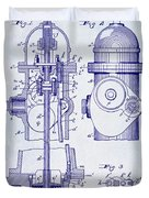 1903 Fire Hydrant Patent Duvet Cover