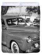 1942 Ford Super Deluxe Sedan Bw  Duvet Cover