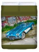 1959 Chevrolet Corvette Duvet Cover