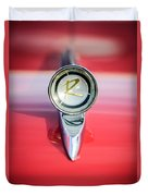 1961 Rambler Hood Ornament Duvet Cover