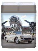 1962 Chevrolet Corvette Duvet Cover