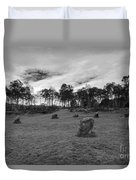 9 Ladies Stone Circle, Stanton Moor, Peak District National Park Duvet Cover