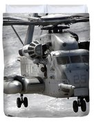 A Ch-53e Super Stallion Helicopter Duvet Cover