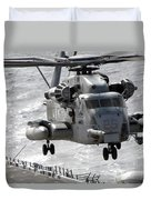 A Ch-53e Super Stallion Helicopter Duvet Cover by Stocktrek Images