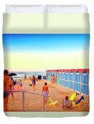 A Day At The Beach Duvet Cover
