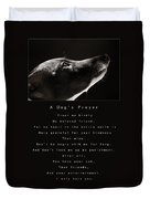 A Dog's Prayer  A Popular Inspirational Portrait And Poem Featuring An Italian Greyhound Rescue Duvet Cover