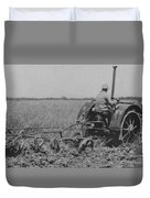 A Farmer Driving A Tractor Duvet Cover
