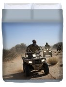 A U.s. Soldier Performs Off-road Duvet Cover