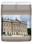 A View Of Chatsworth House, Great Britain Duvet Cover
