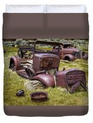 Abandoned Cars, Bodie Ghost Town Duvet Cover