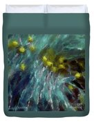 Abstract 92 Digital Oil Painting On Canvas Full Of Texture And Brig Duvet Cover