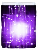 Abstract Circuit Board Lighting Effect  Duvet Cover