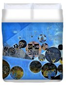 Abstract Painting - Tufts Blue Duvet Cover