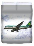 Aer Lingus Airbus A319 Art Duvet Cover