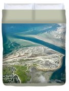 Aerial Vew Of Sandy Neck Beach In Barnstable On Cape Cod Massac Duvet Cover