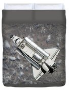 Aerial View Of Space Shuttle Discovery Duvet Cover by Stocktrek Images