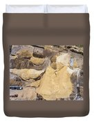 Aerial View Over The Sandpit. Industrial Place In Poland. Duvet Cover