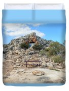 Agioi Saranta Cave Church - Cyprus Duvet Cover