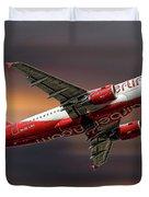 Air Berlin Airbus A319-112 Duvet Cover
