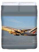 Air France A 380 Duvet Cover