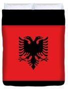 Albania Flag Duvet Cover