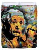 Albert Einstein.. - By Prar Duvet Cover