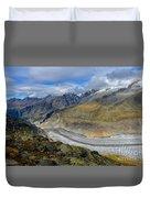 Aletsch Glacier, Switzerland Duvet Cover