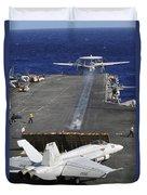 An E-2c Hawkeye Launches Duvet Cover
