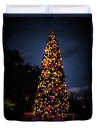 An Epcot Christmas Tree Duvet Cover