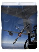 An F-15 Eagle Pulls Into Position Duvet Cover by HIGH-G Productions