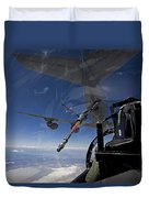 An F-15 Eagle Pulls Into Position Duvet Cover