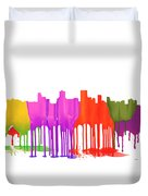 Anchorage Alaska Skyline Duvet Cover