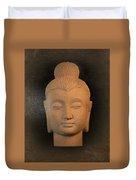 antique oil effect Buddha Gandhara.. Duvet Cover