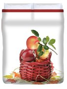 Apples In A Basket  Duvet Cover