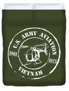 Army Aviation Vietnam Duvet Cover
