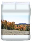 Colorful Aspen Trees Duvet Cover