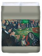 At The Roulette Table In Monte Carlo Duvet Cover