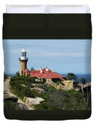 Australia - Path To Barrenjoey Lighthouse Duvet Cover