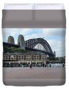 Australia - Sydney Harbour Bridge On Circular Quay Duvet Cover