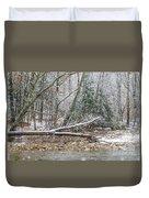 Autumn Snow Williams River  Duvet Cover