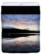 Autumn Sunset, Ladybower Reservoir Derwent Valley Derbyshire Duvet Cover