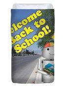 Back To School Little Robox9 Duvet Cover