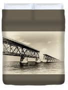 Bahia Honda Bridge Duvet Cover