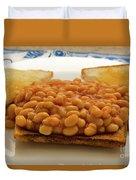 Baked Beans On Toast Duvet Cover
