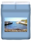 Ballintoy Harbour Duvet Cover