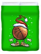 Basketball Christmas Duvet Cover