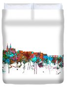 Basle Switzerland Skyline Duvet Cover